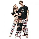 BGFR - Conjunto de pijamas de Navidad para toda la familia, diseño de Santa