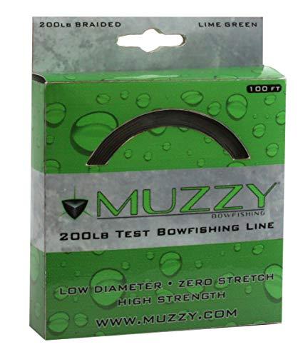 Muzzy 1078 Bow Fishing Line Lime Green 200 Braided 100' Spool