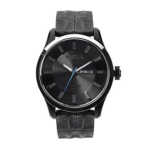 Nixon Herren-Armbanduhr Automatic Leather Analog Quarz Leder A3781886-00