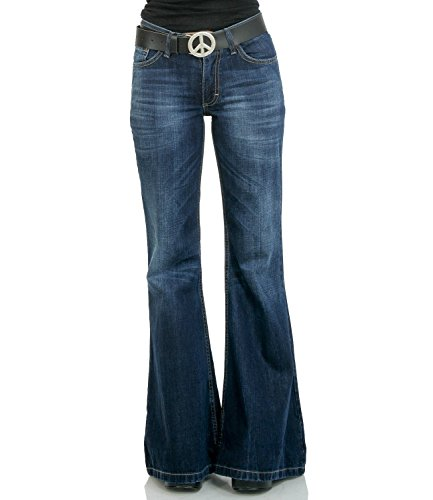 Comycom Damen Jeans mit Schlag Star Burn 34/32