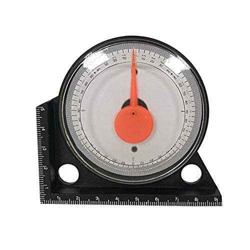 nbvmngjhjlkjlUK Hochpräzises Neigungspegelmessgerät Winkelmesser-Clinometer-Messgerät mit magnetischem Basis-Neigungsmessgerät (schwarz)