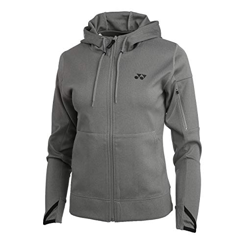 YONEX Damen, Full-Zip Trainingsjacke Grau, Schwarz, XS Jacken