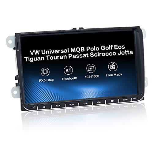 Dasaita 9'Android 10.0 Doppio Din Bluetooth Radio per Volkswagen VW Golf 6 2008-2012 Transporter 2010 2011 Touran 2003-2011 Tiguan 2007-2016 Skoda Octavia 2007-2013 Autoradio DAB