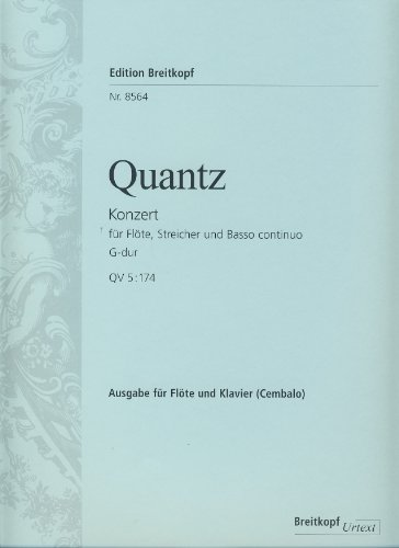 Price comparison product image Quantz: Flute Concerto in G Major,  QV 5:174
