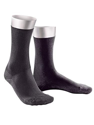 Weissbach Komfort-Socken ohne einschneidenden Gummibund anthrazit