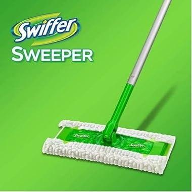 Swiffer Sweeper 3 in 1 Mop and Broom Floor Cleaner 1 Sweeper, 6 Dry Sweeping Cloths, 4 Wet Mopping Cloths, and 1 Swiffer Duster by Swiffer Sweeper