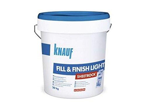 1 Palette (30 Eimer =600kg) Gipskartonspachtel Knauf Fill & Finish Ligth im 20 kg Eimer, inklusive Pfandpalette und Versand deutschlandweit