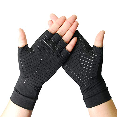 Arthritis Copper Compression Gloves – Highest Infused Copper Content, Comfortable Fit for Men and Women, Alleviate Rheumatoid Pains, Ease Muscle Tension, Relieve Carpal Tunnel Aches (S)