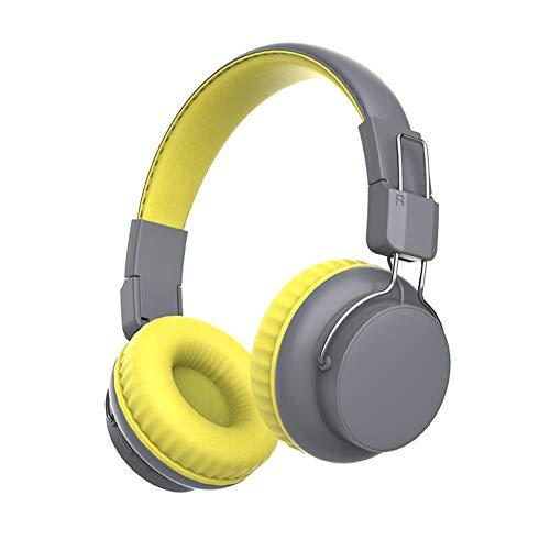 Docooler Drahtlose Kopfhörer Bluetooth 5.0 Headset Modischer Kopfhörer am Kopf Faltbar mit Mikrofon Multifunktionale Musiksportkopfhörer