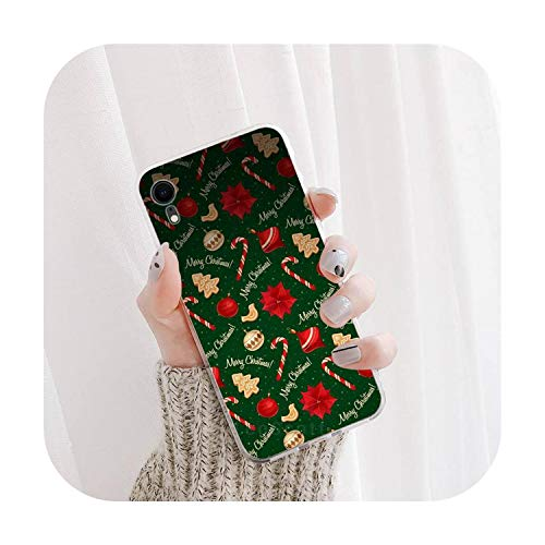 Inverno Natale Capodanno DIY Phone Case Cover Cover per iPhone 12 5 5s 5c se 6 6s 7 8 Plus x xs xr 11 pro max-a6-per iPhone 5 5S SE