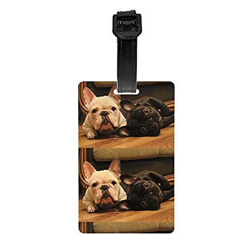French Bulldog Luggage Tags Removable Travel Id Identification Labels Set