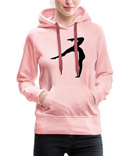 Spreadshirt Turnen Turnerin Handstand Gymnastin Akrobatin Frauen Premium Hoodie, M, Kristallrosa