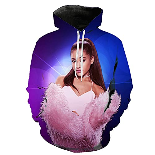 JFLY 2021 Hombres Mujeres Niños 3D Impreso Popular Ariana Grande Sudaderas con Capucha Moda Fresca Casual Hip Hop Sudaderas Streetwear Tops