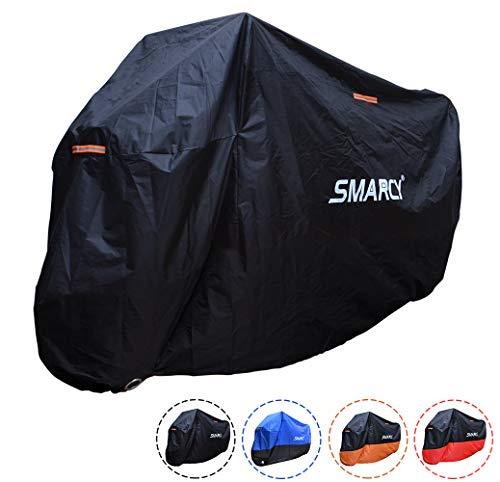 Smarcy Funda Protector para Moto, Cubierta para Moto / Motocicleta Resistente al Agua a Prueba de UV, Color Negro XXL