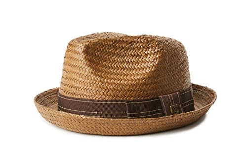BRIXTON Castor Fedora Sombrero, Sepia/Brown, M Unisex Adulto