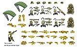 MAGMABRICK Chaleco táctico, Arma, Equipo de Guerra y Armas en Forest Battlefield Compatible con Lego