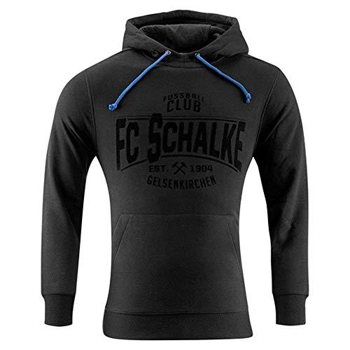 FC Schalke 04 FC Gelsenkirchen-Schalke 04 eV Fanartikel Kapuzen-Sweat Black Größe XXXL
