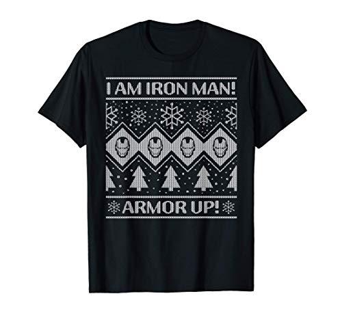 Marvel Iron Man Armor Up Holiday Maglietta