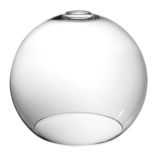 Ikea jakobsbyn iluminación de pantalla de cristal transparente