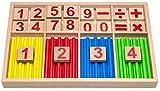 Natureich Montessori Juguete Educativo de matemáticas de Madera Juego de Tablas...