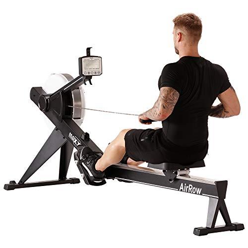 MAXXUS Rudergerät AirRow Rower Studio Qualität für das Ruder-Training Zuhause, ideal für ein gelenkschonendes Training