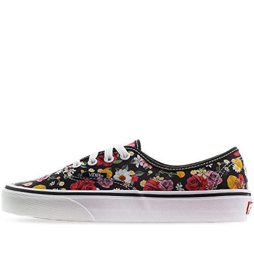 Vans LUX Floral Authentic Unisex Womens Skateboarding-Shoes VN-0A38EMU5H_6.5 - Black/Floral/True White