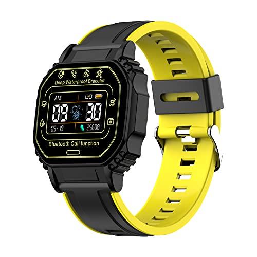Benxin Pulsera inteligente compatible con llamadas Bluetooth, reloj deportivo impermeable multifuncional para adultos y niños
