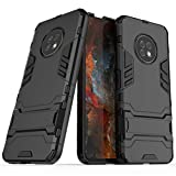 Dmtrab Phone Case para Huawei Enjouy 20 Plus Case, PC+ TPU Two- One Soporte Invisible Funda Protectora a Prueba de Golpes(Negro) Tapa de Paquetes (Color : Navy Blue)
