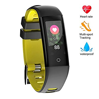 READ Fitness Tracker Blood Pressure Heart Rate Sleep&Monitor G16 Health Tracker Step Distance Calories Counter Pedometer IP67 Waterproof Smart Watch Call SMS SNS Remind Watch for Android iOS
