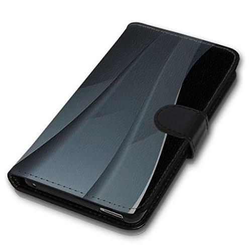 Book Style Handy Tasche - Design MV-64 - für HTC One M8 / M8S - Cover Case Schutz Hülle Etui Schutzhülle