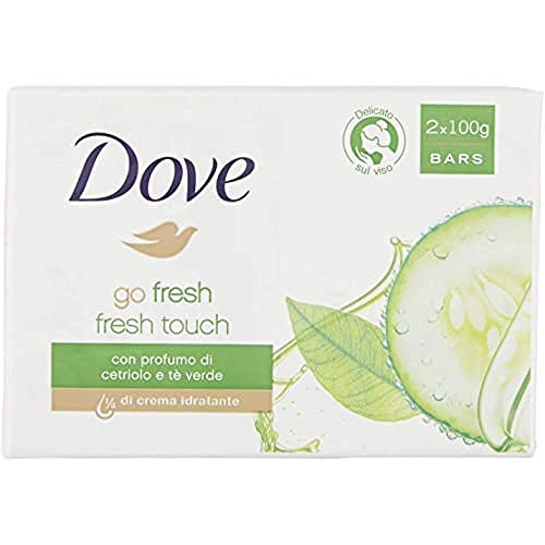 Dove Go Fresh Jabon Crema Pepino Y Te Verde Lote 2 X 100 Gr - 100 ml.