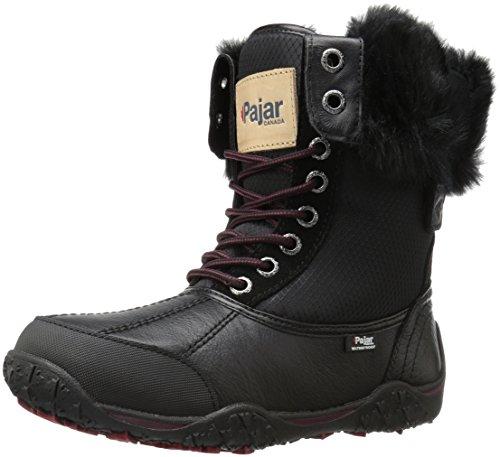 PAJAR Women's Gabby Snow Boot, Black/Black, 36 EU/5-5.5 M US