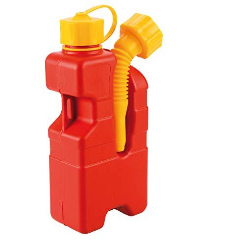 SOS FUEL - 1LT tanica emergenza benzina idrocarburi da 1lt dotata di prolunga a soffietto inclinata da avvitare sulla bocca di fuoriuscita della tanica,omologata UN; ADR-RID; IMDG.