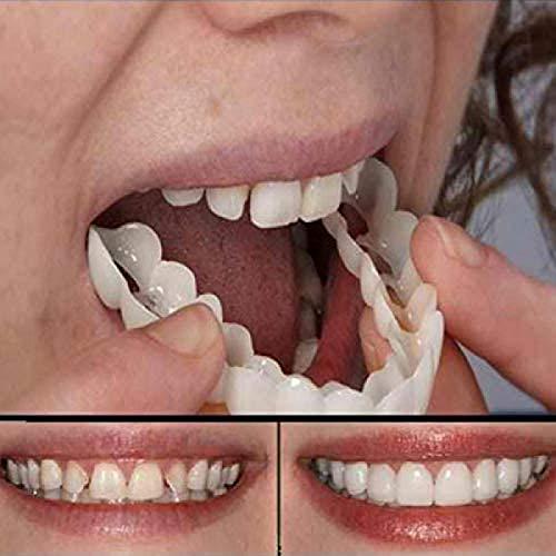1 Pieza De Prótesis Dentales Temporales Con Sonrisa, Dientes Artificiales, Carillas Dentales Cosméticas Superiores