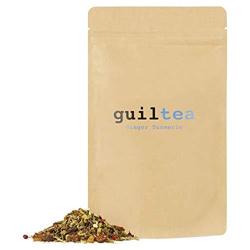 guiltea 100g Ginger Turmeric I Infuso d'erbe, aromatizzato al gusto di zenzero e curcuma I Infusi e tisane I Tè sfuso I Tè in foglio sfusi