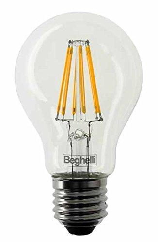 Beghelli BEG56402 Lampada Led, E27, 7 watts, Multicolore, vetro;policarbonato;acciaio