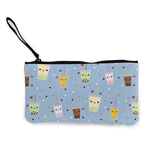 Yuanmeiju TER Women and Girls Cute Fashion Canvas Monedero Change Coin Bag Zipper Small Purse Wallets for Keychain Money Travel Pouches