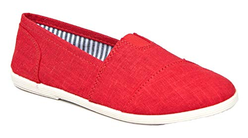 SODA Women Object-S Flats-Shoes,Red,6.5