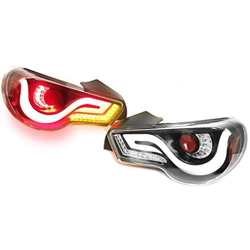 LED Streak Tail Lights Pair For FRS BRZ (Black)