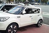 Autoclover Juego de deflectores de viento cromados para Kia Soul 2014-2019 (4 piezas)