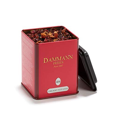 Pasticceria Passerini dal 1919 Dammann Nuit d'été 404 - Té o infusión de Hibisco, Manzana y Rosa mosqueta, Lata de 100 gr - Dammann Freres