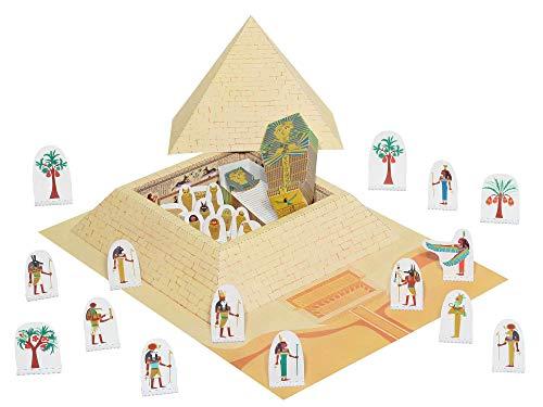 Forum Traiani Bastelbogen Pyramide Ägypten , Pharao TUT-Anchamun - Pukcaka DIY Bastelbögen Papier-Karton für Kindergeburtstag als Geschenkidee, Bastelidee für Mädchen