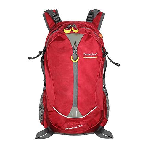 EGOGO 32 l Wasser-Resistent Outdoor Sport Wandern Camping Radfahren Rucksack Daypack S2128 (Rot)