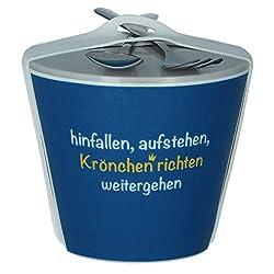 Snack-To-Go Becher 'Krönchen richten'