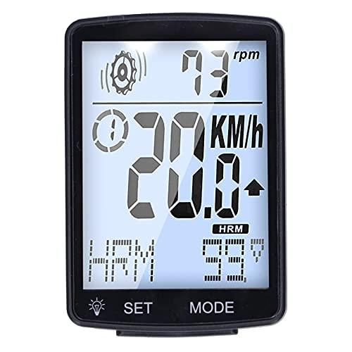 Mothinessto Tacómetro para bicicleta, ordenador, pantalla LCD, cronómetro, con sensor de velocidad, para hombres al aire libre, mujeres, adolescentes, ciclistas, pantalla de 2,8 pulgadas, color blanco