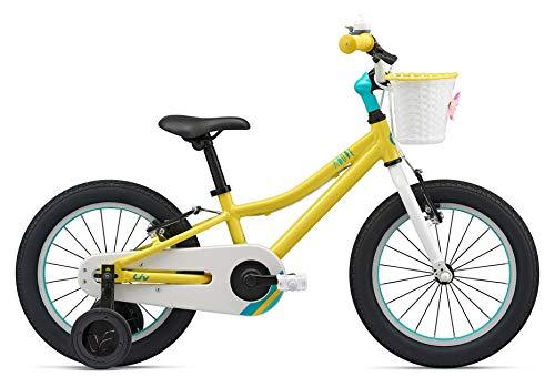 Giant meisjesfiets 16 inch Adore F/W 16 van aluminium met wieltjes fiets mand geel