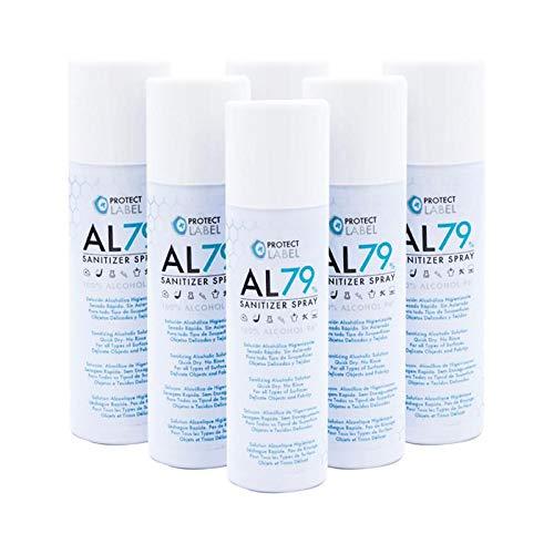 Hidroalcohol Spray 6 x 500ml. Higienizante manos y superficies 79% Alcohol Aerosol Hidroalcohólico