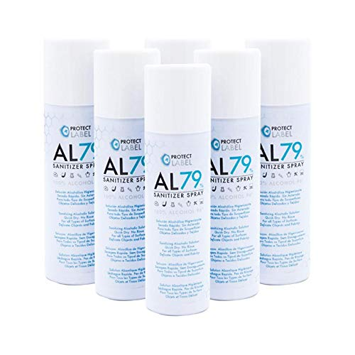 Protect Label Hidroalcohol Spray 500Ml Higienizante Manos y Superficies 79% Alcohol Aerosol Hidroalcohólico 600 ml
