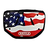Battle Sports AMERICAN FLAG 2.0 Chrome Football Back Plate - Adult & Youth (Red, White, Blue, Adult)