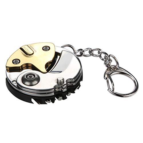 Breale Faltbare Stahl Münze Schlitz Schrauber Multifunktionale Schraubendreher EDC Gadget Outdoor Hand Werkzeuge Survival Notfallliefert Uhr Brillen Rahmen Wartung